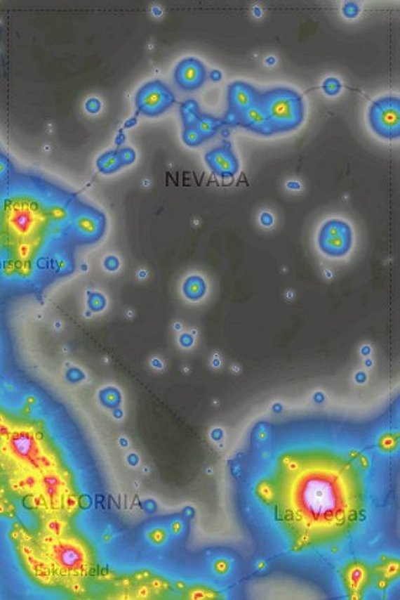 NV light pollution map