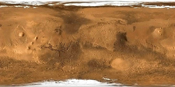 Mars surface map