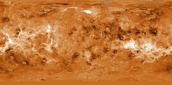 Venus surface map