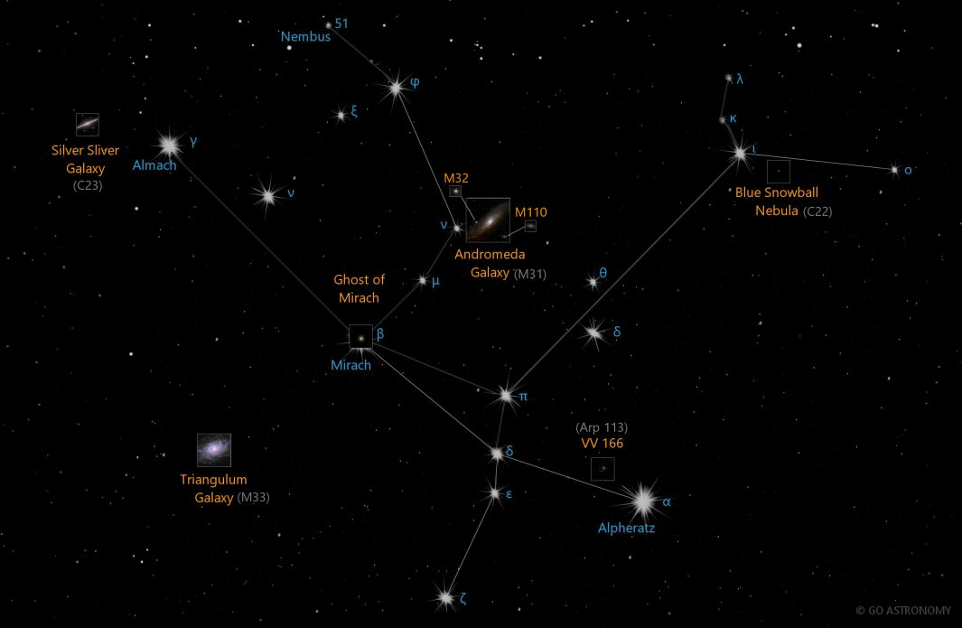 Constellation Andromeda the Daughter of Cepheus