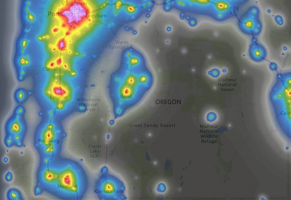 OR light pollution map